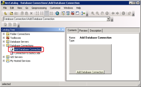 Connect to Biotics 5 Database within ArcGIS